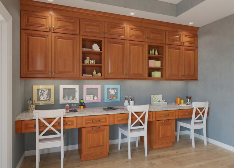 Fremont Cinnamon Glaze. Office Cabinetry