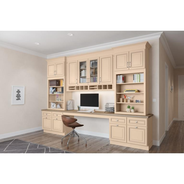 Ivory Glazed Kitchen Cabinets: High Quality Office Cabinets
