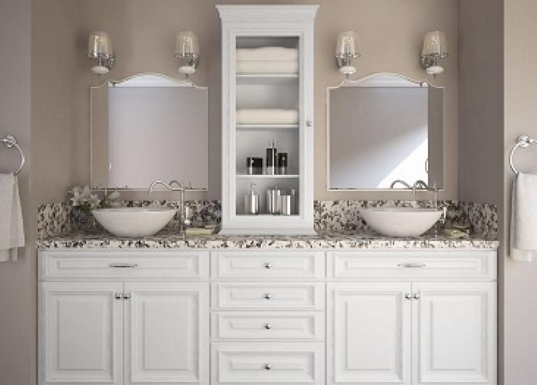 Impressive White Bathroom Vanities Remodelling