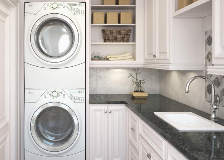 Roosevelt White Laundry Room Cabinetry