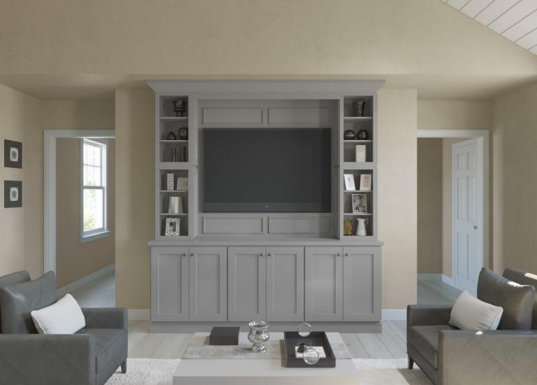 Society Shaker Steel Gray TV Room Cabinets