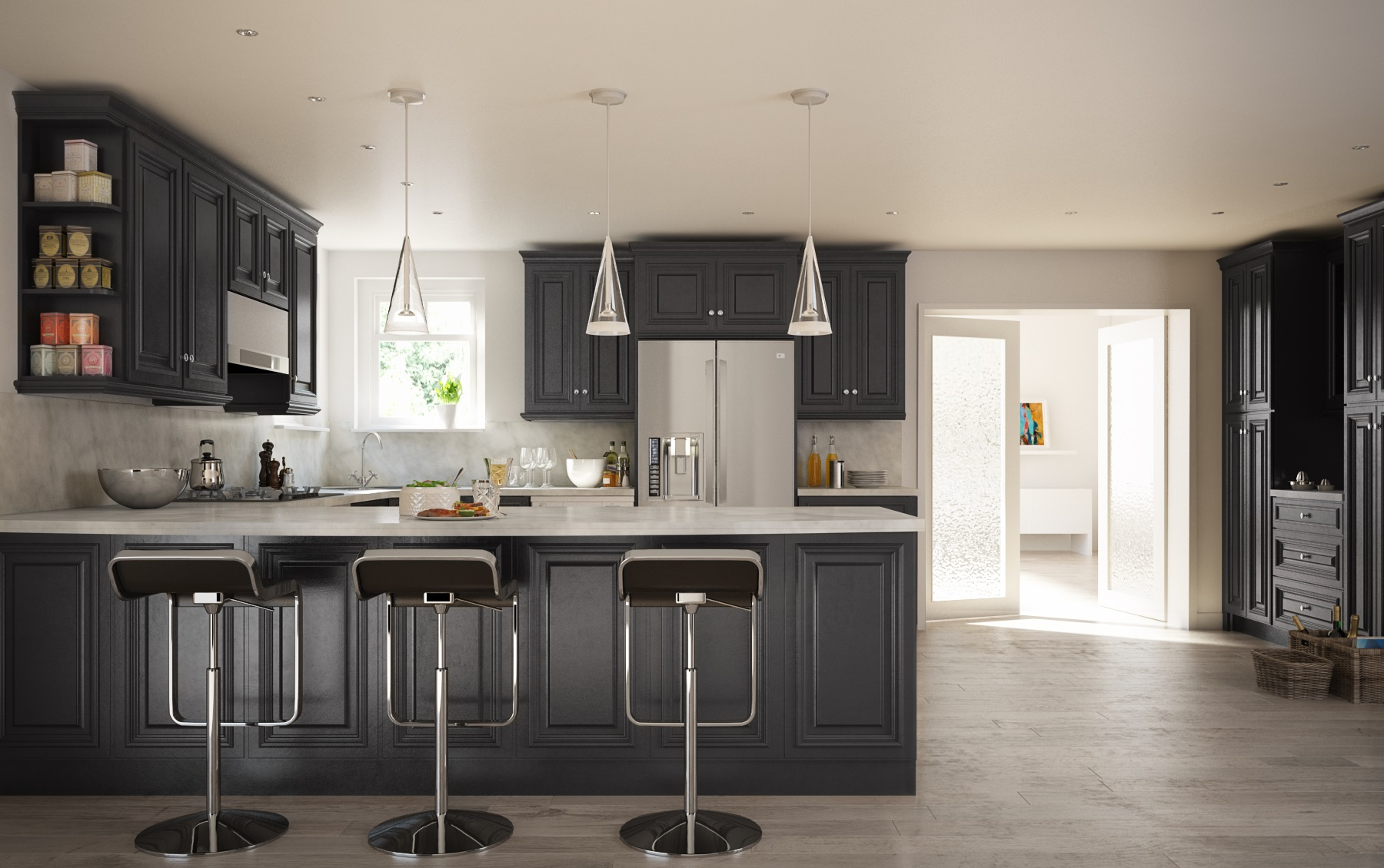 Legacy Black Kitchen Cabinets - Willow Lane Cabinetry