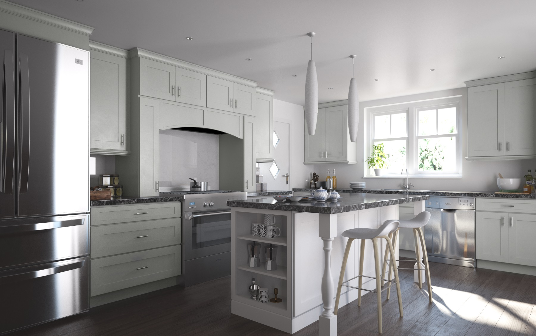 Benjamin Moore White Dove Kitchen Cabinets Society Shaker Dove Gray Kitchen Cabinets Willow Lane