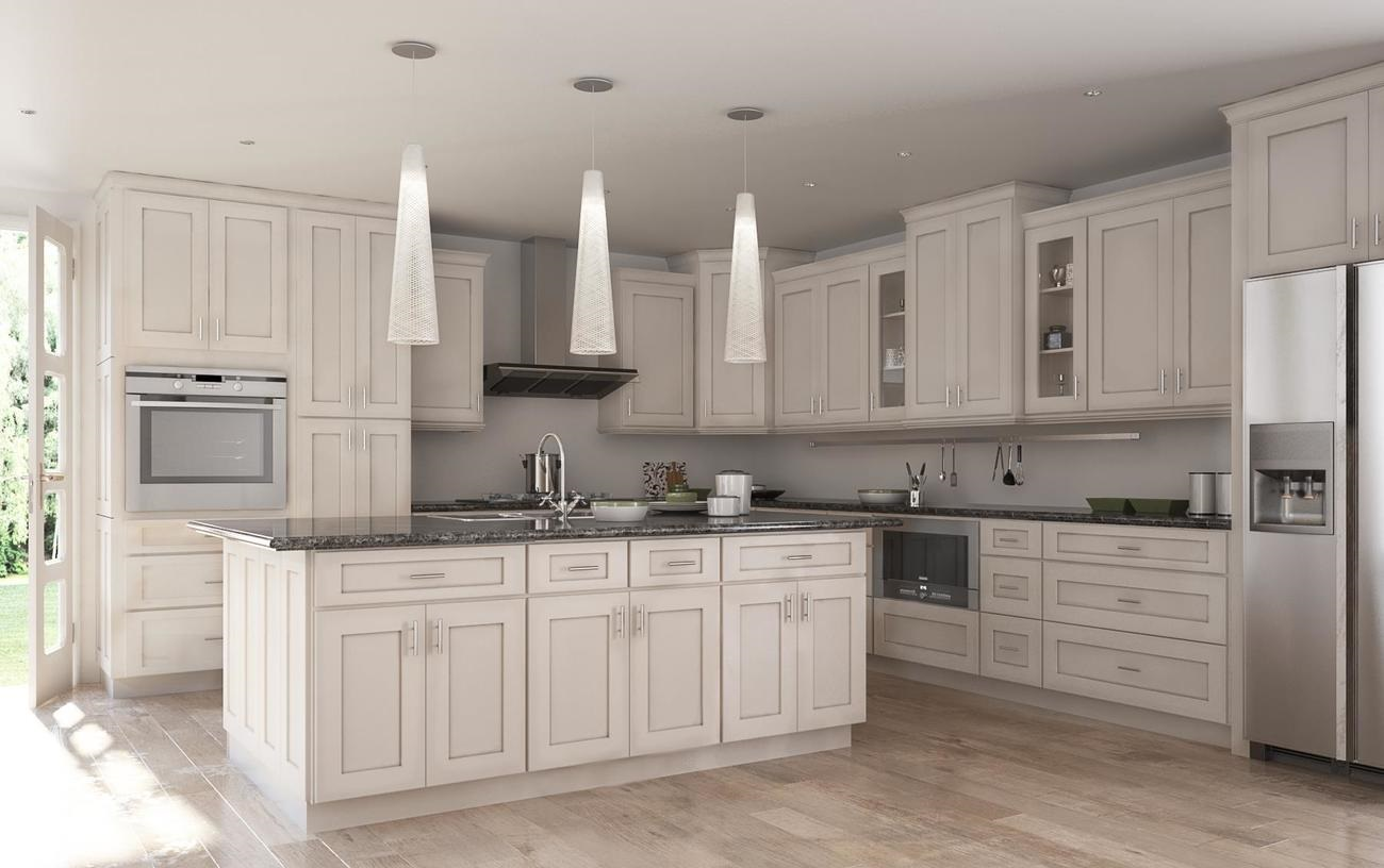 Society shaker white with brushed chocolate glaze the for White kitchen cabinets