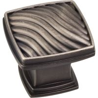 "Jeffrey Alexander By Hardware Resource - Encada Collection Knobs - 1.188"" Overall Length in Brushed Pewter"