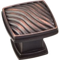 "Jeffrey Alexander By Hardware Resource - Encada Collection Knobs - 1.188"" Overall Length in Brushed Oil Rubbed Bronze"
