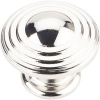"Jeffrey Alexander By Hardware Resource - Bremen 2 Collection Pulls - 1.25"" Diameter in Polished Nickel"