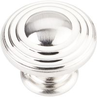 "Jeffrey Alexander By Hardware Resource - Bremen 2 Collection Pulls - 1.25"" Diameter in Satin Nickel"