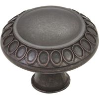 "Jeffrey Alexander By Hardware Resource - Symphony Collection Knobs - 1.375"" Diameter in Gun Metal"