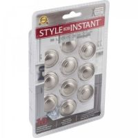 """Elements by Hardware Resources - Retail Pack Hardware Collection Cabinet Knob - 1.25"""" Diameter in Satin Nickel"""