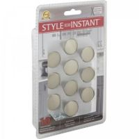 """Elements by Hardware Resources - Retail Pack Hardware Collection Cabinet Knob - 1"""" Diameter in Satin Nickel"""