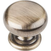 "Elements By Hardware Resource - Florence Collection Knobs - 1.25"" Diameter in Brushed Antique Brass"