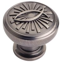 "Jeffrey Alexander By Hardware Resource - Curio Collection Knobs - 1.375"" Diameterin Brushed Pewter"