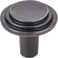 "Elements By Hardware Resource - Calloway Collection Knobs - 1.125"" Diameter in Brushed Pewter"