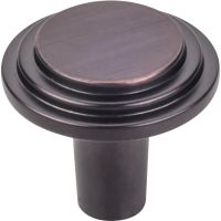 "Elements By Hardware Resource - Calloway Collection Knobs - 1.125"" Diameter in Brushed Oil Rubbed Bronze"