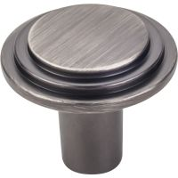 "Elements By Hardware Resource - Calloway Collection Knobs - 1.25"" Diameter in Brushed Pewter"