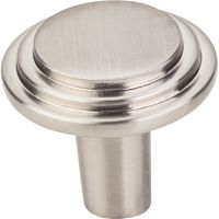 "Elements By Hardware Resource - Calloway Collection Knobs - 1.125"" Overall Length in Satin Nickel"