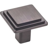 "Elements By Hardware Resource - Calloway Collection Knobs - 1.25"" Overall Length in Brushed Oil Rubbed Bronze"