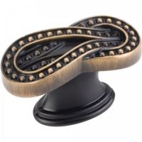 "Jeffrey Alexander by Hardware Resources - Corsica Collection Cabinet Knob - 1.62"" Diameter in Antique Brushed Satin Brass"