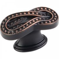 "Jeffrey Alexander by Hardware Resources - Corsica Collection Cabinet Knob - 1.62"" Diameter in Brushed Oil Rubbed Bronze"