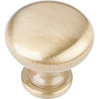 "Elements By Hardware Resource - Madison Collection Pulls - 1.1875"" Diameter in Satin Brass"