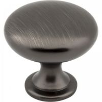 "Elements by Hardware Resources - Madison Collection Cabinet Knob - 1.18"" Diameter in Brushed Pewter"