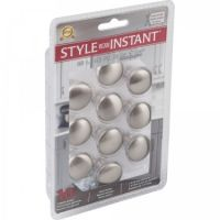 """Elements by Hardware Resources - Retail Pack Hardware Collection Cabinet Knob - 1.18"""" Diameter in Satin Nickel"""