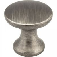 "Elements by Hardware Resources - Slade Collection Cabinet Knob - 1"" Diameter in Brushed Pewter"