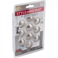 "Elements by Hardware Resources - Retail Pack Hardware Collection Cabinet Knob - 1.18"" Diameter in Satin Nickel"
