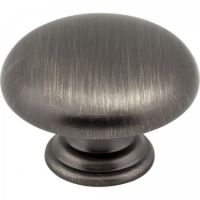 "Elements by Hardware Resources - Gatsby Collection Cabinet Knob - 1.18"" Diameter in Brushed Pewter"