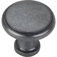 "Elements By Hardware Resource - Gatsby Collection Knobs - 1.125"" Diameter in Gun Metal"