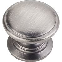 "Jeffrey Alexander By Hardware Resource - Durham Collection - 1.25"" Diameter in Brushed Pewter"
