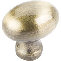 """Jeffrey Alexander By Hardware Resource - Bordeaux Collection - 1.188"""" Overall Length in Brushed Antique Brass"""