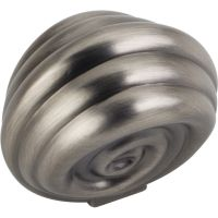 "Jeffrey Alexander By Hardware Resource - Lille Collection Knobs - 1.375"" Overall Length in Brushed Pewter"