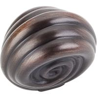 "Jeffrey Alexander By Hardware Resource - Lille Collection Knobs - 1.375"" Overall Length in Brushed Oil Rubbed Bronze"