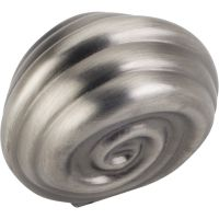 "Jeffrey Alexander By Hardware Resource - Lille Collection Knobs - 1.25"" Overall Length in Brushed Pewter"