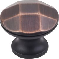 "Elements By Hardware Resource - Drake Collection Knobs - 1.25"" Diameterin Brushed Oil Rubbed Bronze"