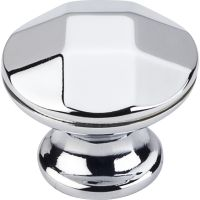 "Elements By Hardware Resource - Drake Collection Knobs - 1.25"" Diameterin Polished Chrome"