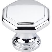 "Elements By Hardware Resource - Drake Collection Knobs - 1"" Projectionin Polished Chrome"