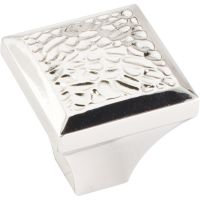 """Jeffrey Alexander By Hardware Resource - Solana Collection Knobs - 1.25"""" Overall Length in Polished Nickel"""