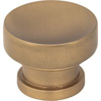 "Jeffrey Alexander By Hardware Resource - Elara Cabinet Knob - 1.25"" Diameter in Satin Bronze"