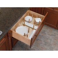 Drawer Peg System with Wood Pegs (Rev-A-Shelf)