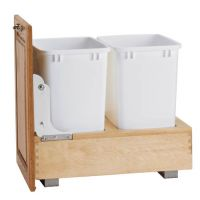 """Bottom Mount Double Pullout Waste Container - Fits an 18"""" Wide Base Cabinet (Rev-A-Shelf)"""