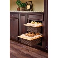 """Rev-A-Shelf Woven Basket with Rails - Fits an 18"""" Wide Base Cabinet"""