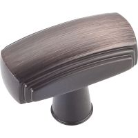 "Jeffrey Alexander By Hardware Resource - Delgado Collection Pulls - 1.563"" Overall Length in Brushed Oil Rubbed Bronze"