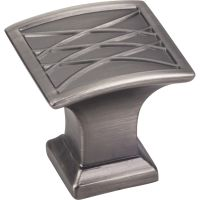 "Jeffrey Alexander By Hardware Resource - Aberdeen Collection - 1.25"" Projection in Brushed Pewter"