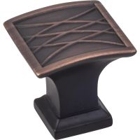 "Jeffrey Alexander By Hardware Resource - Aberdeen Collection - 1.25"" Projection in Brushed Oil Rubbed Bronze"
