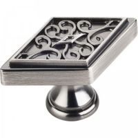 "Jeffrey Alexander by Hardware Resources - Marvella Collection Cabinet Knob - 2.25"" Diameter in Brushed Pewter"