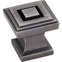"Jeffrey Alexander By Hardware Resource - Delmar Collection Pulls - 1"" Overall Length in Brushed Pewter"