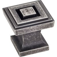"Jeffrey Alexander By Hardware Resource - Delmar Collection Pulls - 1"" Overall Length in  Distressed Pewter"